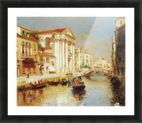 Along the Venetian Canal Picture Frame print