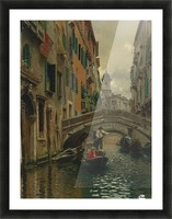 A quiet canal Picture Frame print