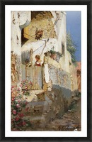 Young girl on Capri Picture Frame print