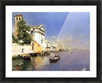 Entering a Venetian Canal Picture Frame print