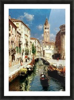 Along Venetian canal Picture Frame print