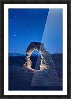 Delicate Arch Night Picture Frame print