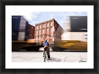 Waiting on the Train Picture Frame print