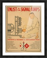 Signal Corps Picture Frame print