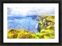 CLIFFS OF MOHER 1 WATERCOLOR Picture Frame print