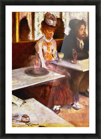 Absinthe Drinkers by Degas Picture Frame print