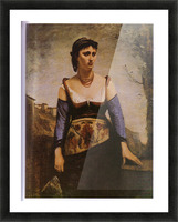 Agostina 1866 by Corot Picture Frame print