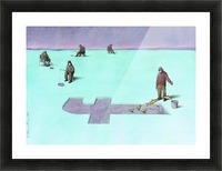 Fishing Picture Frame print