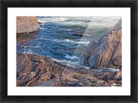 Rocky River Edge Picture Frame print