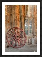 Wagon Wheel Picture Frame print