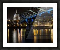 Millenium Bridge, London Picture Frame print