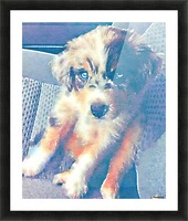 My best friend in Watercolor Picture Frame print