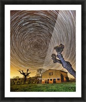 Tuscan Startrails Picture Frame print