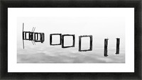 Old Pier in Mist Picture Frame print