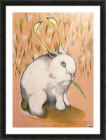 Bunny Alien Picture Frame print