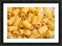 Dry pasta background  Picture Frame print