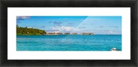Amazing beach in Maldives, summer travel Picture Frame print