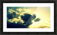 Old sky Picture Frame print