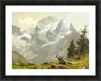 Snowcaps Picture Frame print