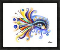 Arubissina V2 - fish eye Picture Frame print
