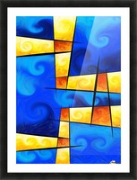 Fergussos V1 - digital abstract Picture Frame print