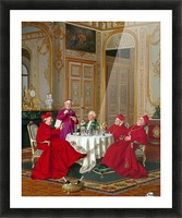 A couple of cardinals in the living room Picture Frame print