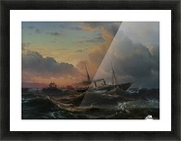The Princess Louise off the coast of Norway Picture Frame print