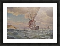 Ship along the line off the coast, 1875 Picture Frame print