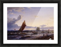 Beach at Hornbaek in the early morning Picture Frame print