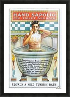 Sapolio Soap advertising poster Picture Frame print
