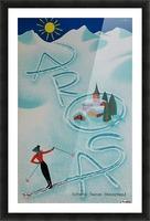 Original vintage poster ski Arosa Suisse Picture Frame print