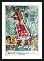 Original Vintage Surfing Movie Poster - Ride The Wild Surf Picture Frame print