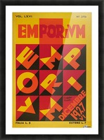 Emporium Italian vintage poster Picture Frame print