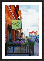 Downtown Kankakee Cafe Picture Frame print