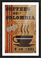 Colombian coffee vintage poster Picture Frame print