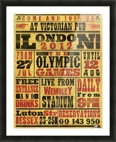 Vintage Olympics poster Picture Frame print