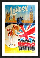 Vintage travel poster for London, England Picture Frame print