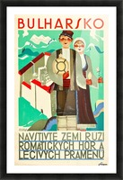 Bulgaria travel poster Picture Frame print