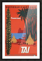 Nouvelle Caledonie TAI vintage travel poster Picture Frame print