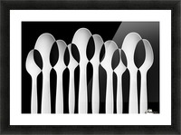 Spoons Abstract:  Forest Picture Frame print