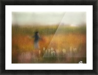 A Girl and Bear grass Picture Frame print