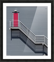 Upstairs to the red door Picture Frame print