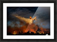 Wall of fire Picture Frame print