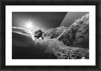 Snow splash over the edge Picture Frame print