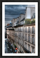 autumn rain paris france tom prendergast Picture Frame print
