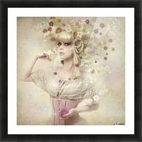 Girl of the flower garden Picture Frame print