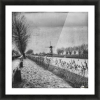 My beloved flat country: Damme Picture Frame print