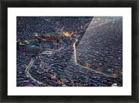 The Larung Ngarig Buddhist Academy at Night Picture Frame print