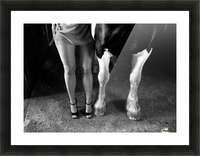 to cool one's heels Picture Frame print