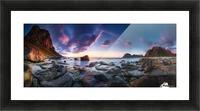Utakleiv sunset Picture Frame print